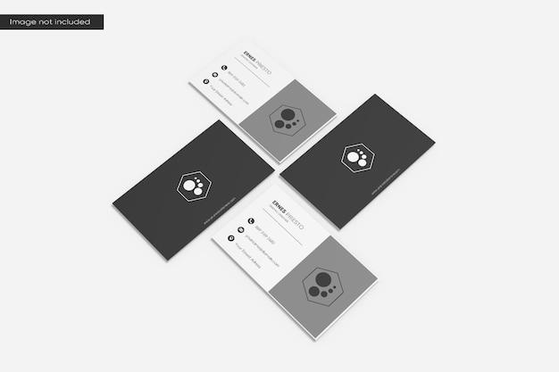 Pilha de maquete de cartão de visita