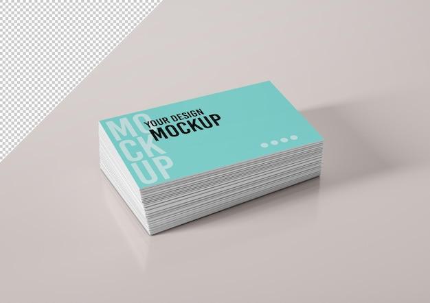 Pilha de maquete de cartões de visita
