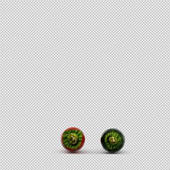Pimentas isométricas renderização em 3d