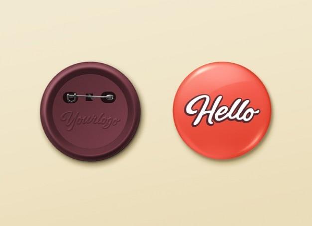Pin botões template psd mockup