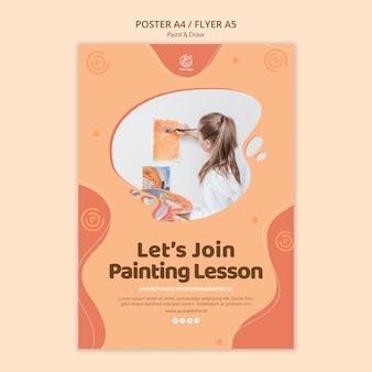 Pintar e desenhar design de modelo de cartaz