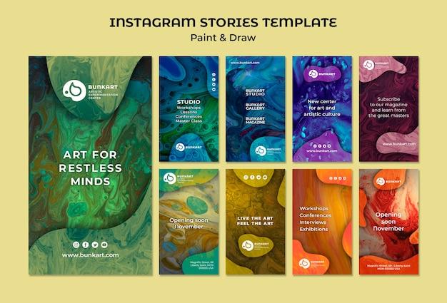 Pintar e desenhar histórias do instagram