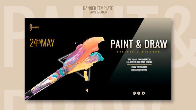 Pintar e desenhar modelo de banner