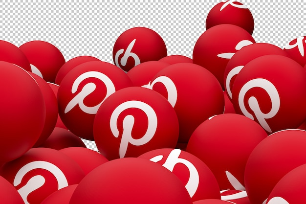 Pinterest emoji logotipo 3d render
