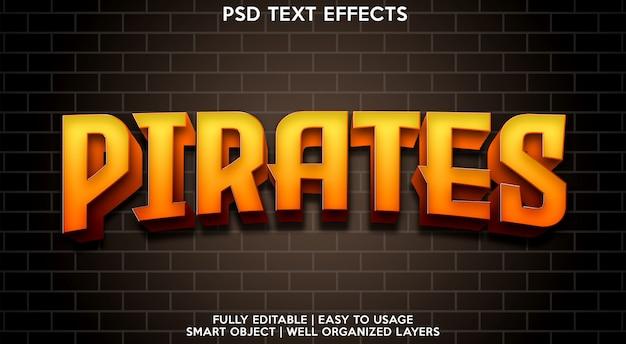Piratas modelo de efeitos de texto