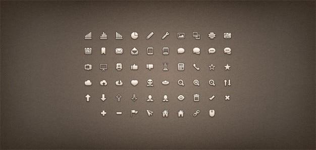 Pixels prémio ícone conjunto png csh psd