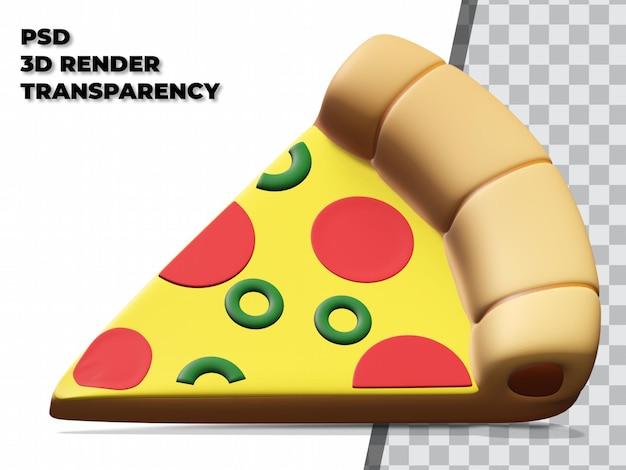 Pizza 3d com transparência de fundo