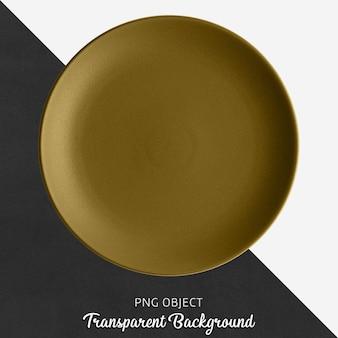 Placa cerâmica redonda marrom no fundo transparente