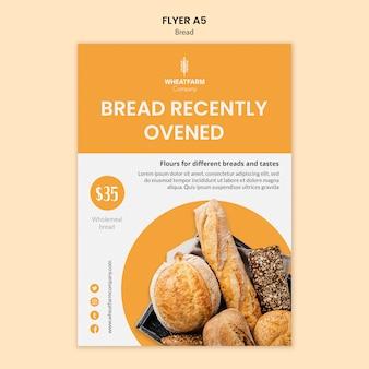 Placa de cartaz de conceito de pão