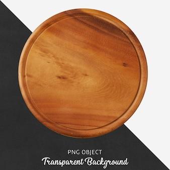 Placa de corte de madeira redonda transparente