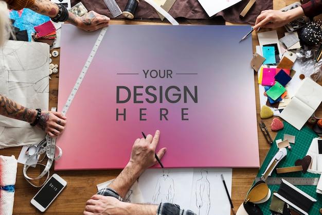 Placa de design em branco