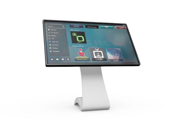 Placa de informação touchscreen maquete