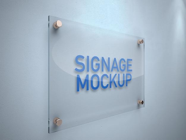 Placa de sinalização-mockup