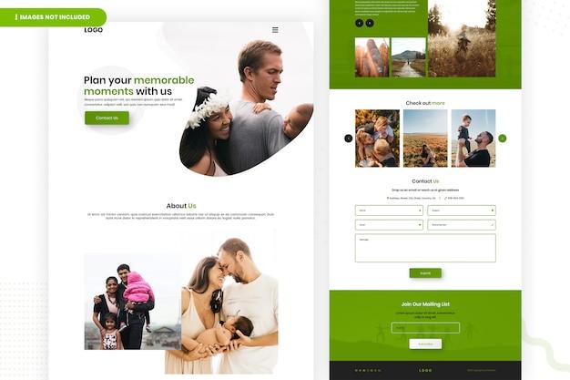 Planeje o design da página de destino de momentos memoráveis