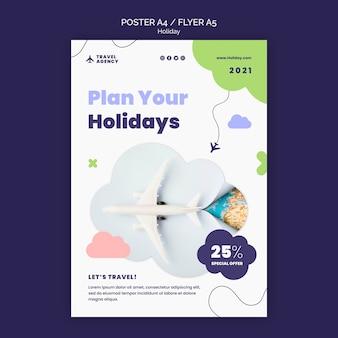 Planeje seu modelo de pôster de férias