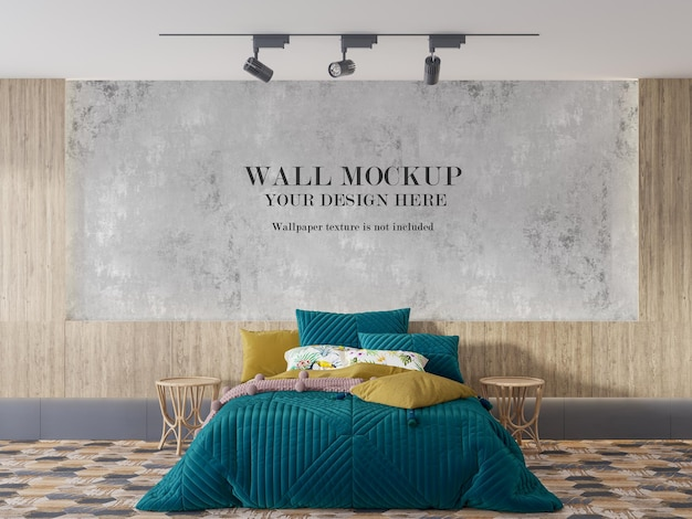 Plano de fundo do papel de parede no quarto bem iluminado