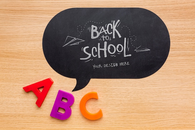 Plano de volta ao modelo de composição de elementos de escola