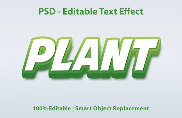 Planta de efeito de texto editável