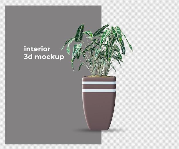 Planta em maquete 3d