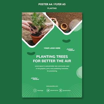 Plante árvores para um melhor modelo de pôster aéreo