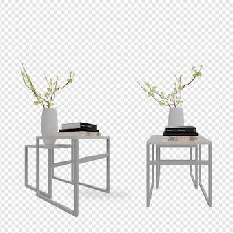 Plante em vaso em designs de renderização em 3d