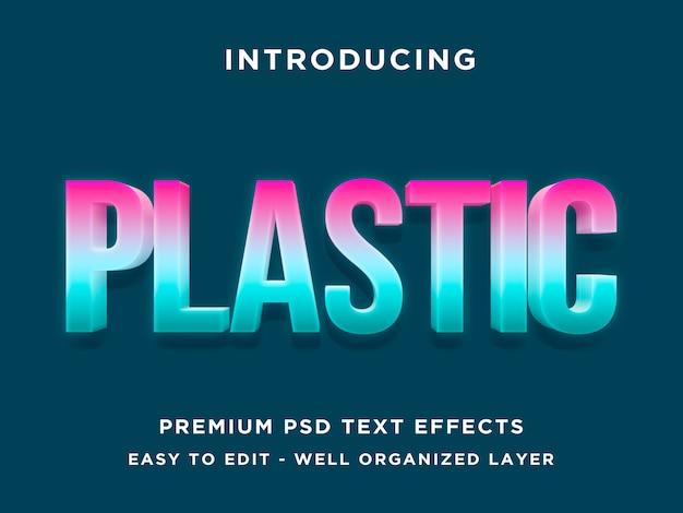 Plástico - efeito de texto 3d moderno psd