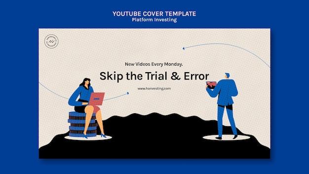 Plataforma de investimento da capa do youtube