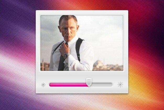Player de vídeo simples com controle de brilho