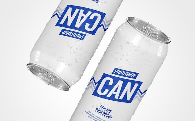 Pode maquete de publicidade de refrigerante