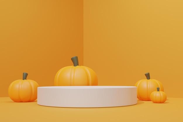 Pódio 3d com tema de halloween para estande de produtos