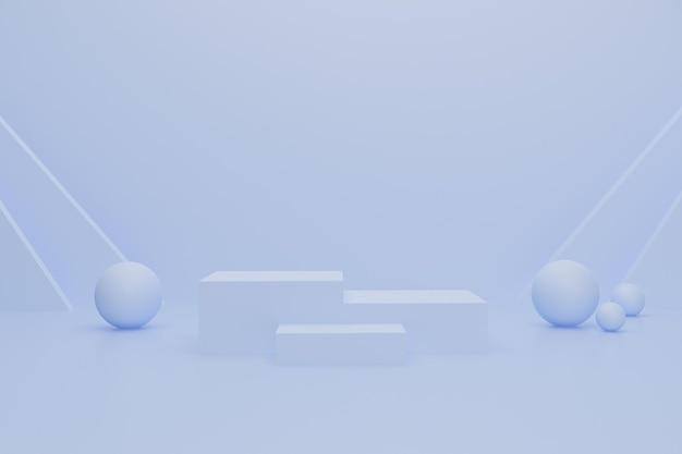 Pódio 3d para propaganda de produto