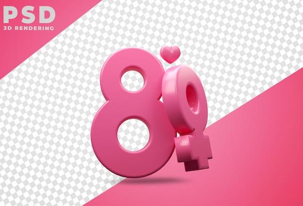Pódio com renderização feliz do dia das mulheres
