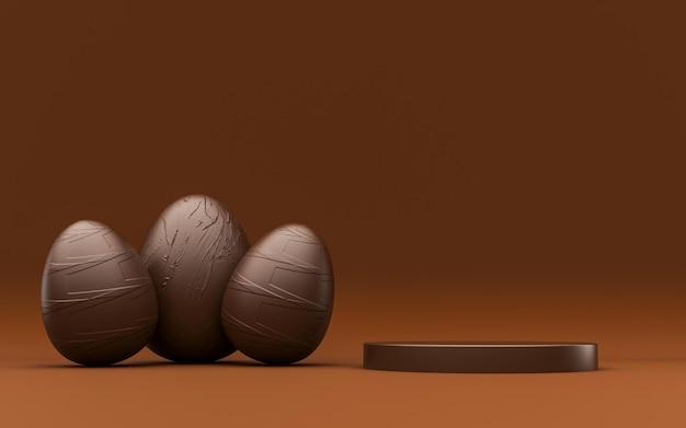 Pódio de chocolate para composição do produto