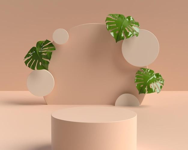 Pódio de forma de geometria de cena abstrata 3d para exibição de produto
