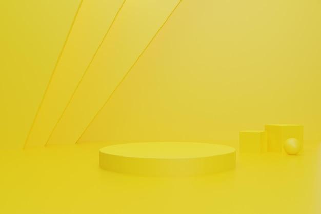 Pódio de fundo renderizado 3d para exibição de produto