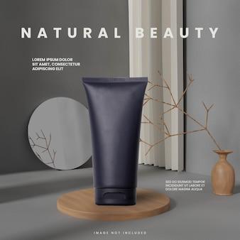 Pódio de madeira natural aleatório abstrato cinza