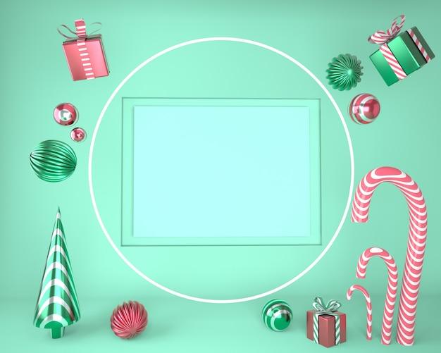 Pódio do produto na renderização encenada do conceito de geometria mínima abstrata