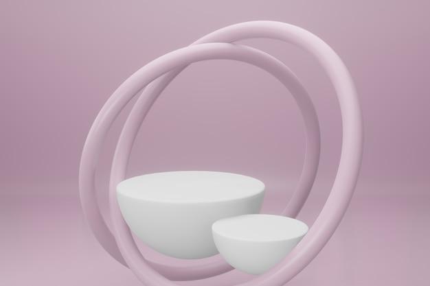 Pódio em design minimalista