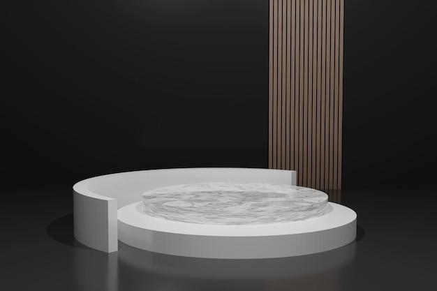 Pódio minimalista de renderização em 3d para colocação de produtos