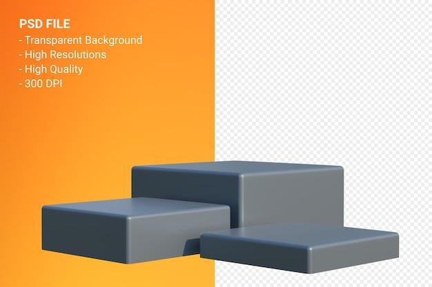 Pódio mínimo isolado para apresentação de produtos cosméticos
