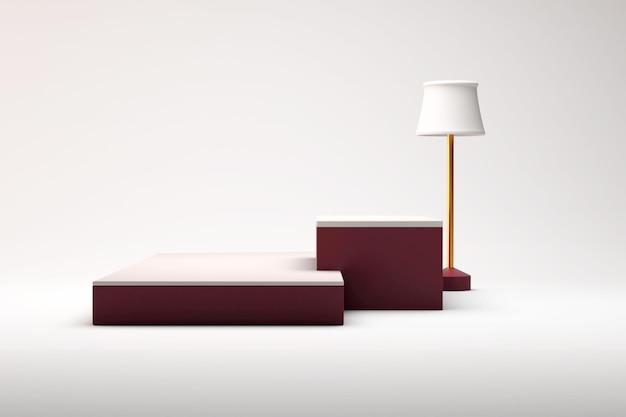Pódio, pedestal ou plataforma, fundo cosmético para apresentação do produto