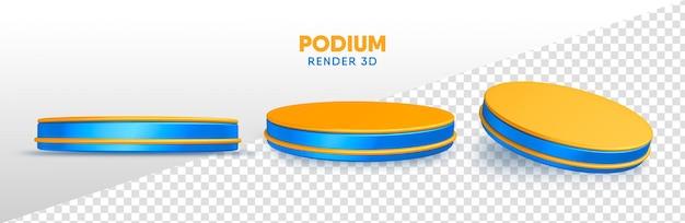 Pódio realista em renderização 3d