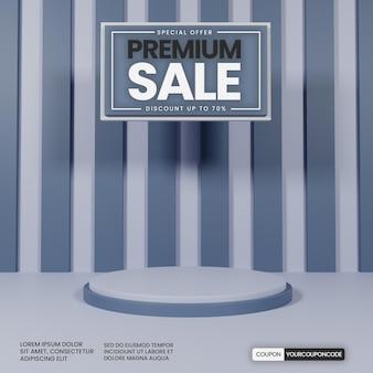 Pódio simples premium com cor cinza