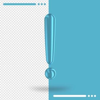 Ponto de exclamação na renderização 3d