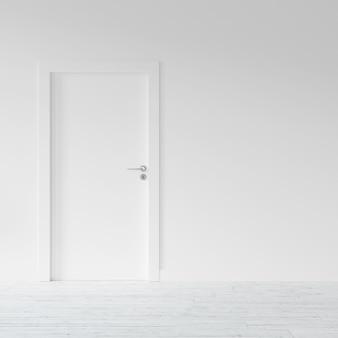 Porta para um apartamento