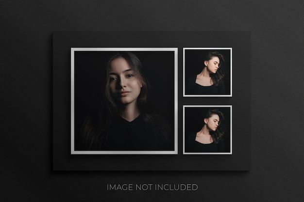 Porta-retratos maquete premium psd