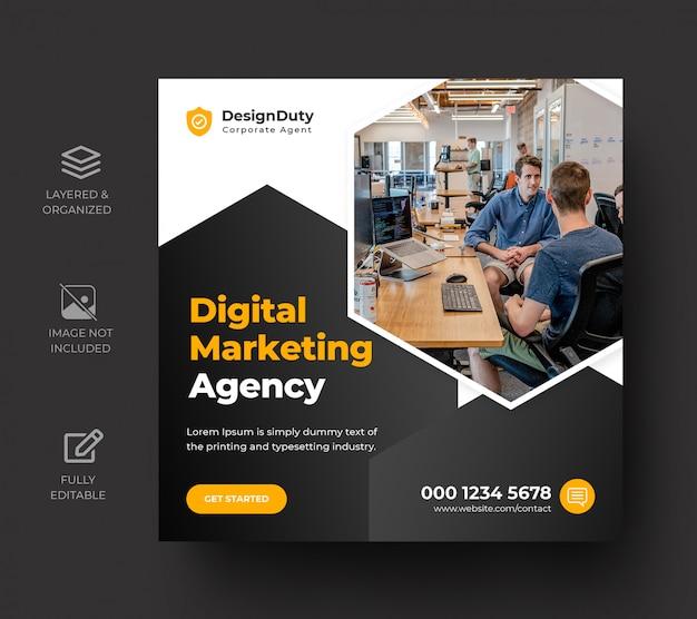 Pós-modelo de mídia social de promoção de marketing de negócios digitais