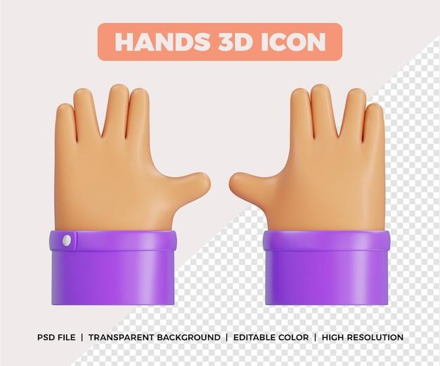 Pose aleatória de mãos 3d
