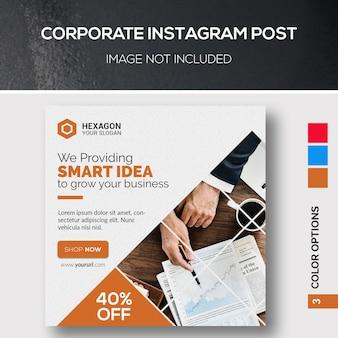 Post corporativo do instagram