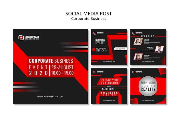 Post de instagram de negócios abstratos